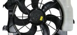 Вентилятор радиатора охлаждения в сборе с расширительным бачком  Kia Rio (2011-2015)